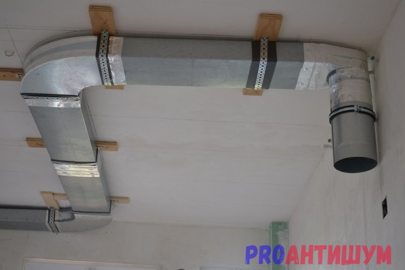 Монтаж вентиляционных коробов
