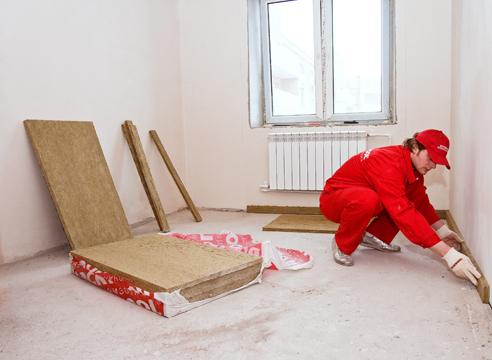 Шумоизоляция пола в квартире под стяжку